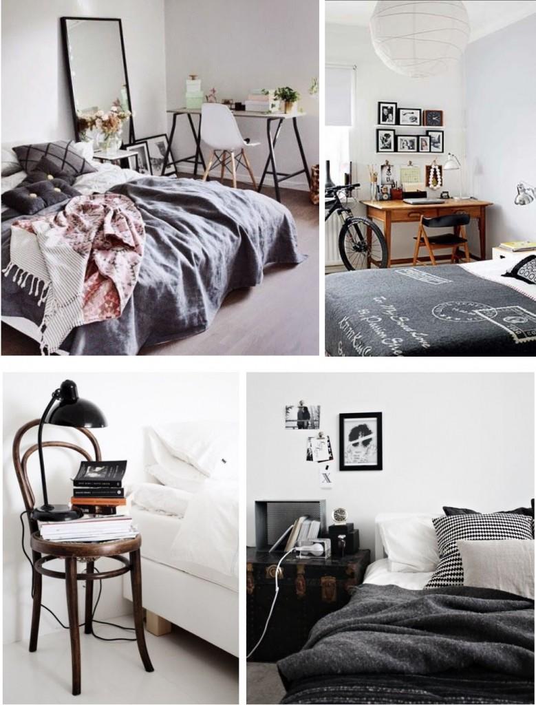 camera-da-letto-stile-vintage